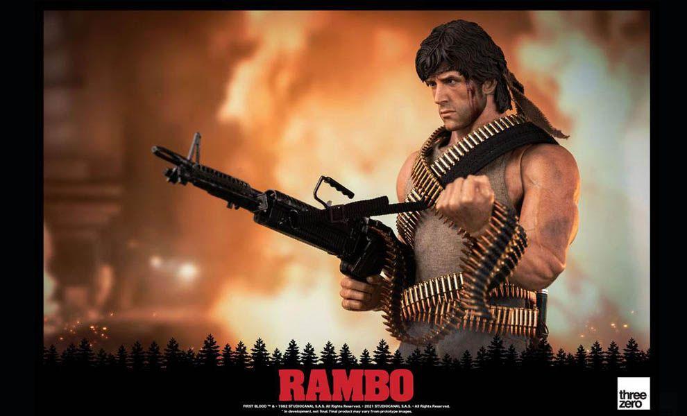 Threezero Rambo First Blood Action Figure 1/6 John Rambo Banner