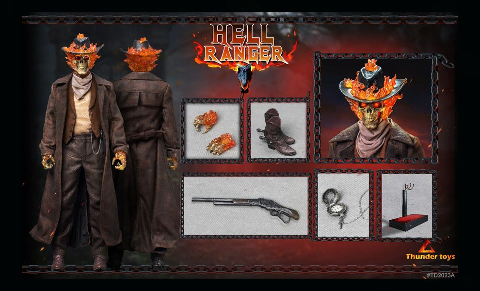Thunder Toys TD2023A Ghost Rider Carter Slade Ghost Rider Hell Ranger 1/6 action figure Banner