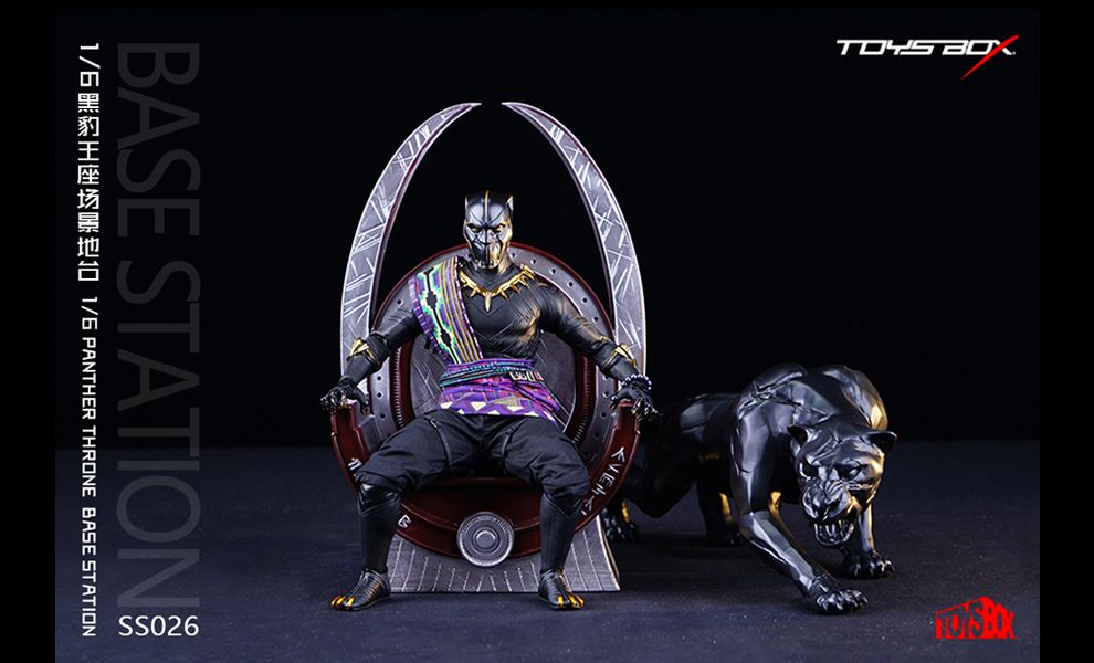 TOYS-BOX-SS026-BLACK-PANTHER-PANTHER-THRONE-BASE-STATION