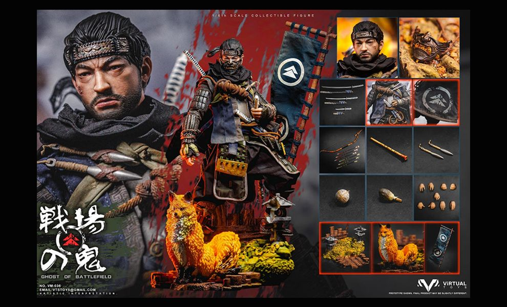 VTSTOYS VM-036B Jin Sakai Ghost of Battlefield Collector's Edition Ghost of Tsushima Banner