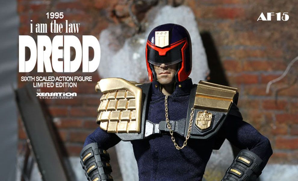 XENSATION AF15 1995 I'AM THE LAW DREDD JUDGE DREDD SIXTH SCALED ACTION FIGURE LIMITED EDITION