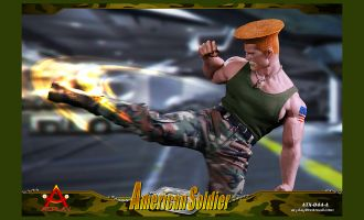 ACPLAY ATX044A STREET FIGHTER GUILE STREET BRUISER AMERICAN SOLDIER