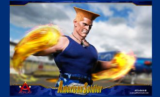 ACPLAY ATX044B STREET FIGHTER GUILE STREET BRUISER AMERICAN SOLDIER