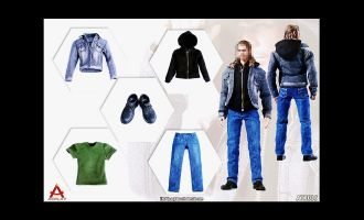 ACPLAY ATX035 MEN'S JEANS SUIT MALE DRESS
