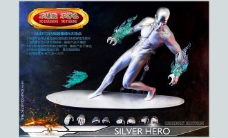 ADD TOYS AD05B SILVER HERO SILVER SURFER banner