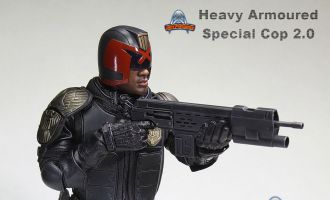 ART FIGURES AF-022 HEAVY ARMOURED SPECIAL COP 2.0 DREDD JUDGE ALVAREZ