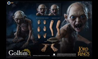 Asmus toys LOTR030G Gollum 1/6 The Lord of the Rings Banner
