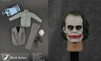 The Joker Bank Robber PS002 joker set Clothes + PS002A Headsculpt