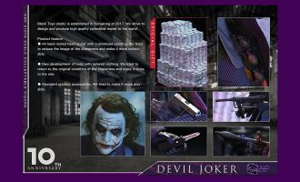 Black Toys BT101 DEVIL JOKER WITH Dollar heap Batman The Dark Knight