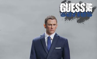 Blackbox Toys BB9002A AGENT 007 GUESS ME SERIES Agent James Blue Suit Agent James Bond Banner