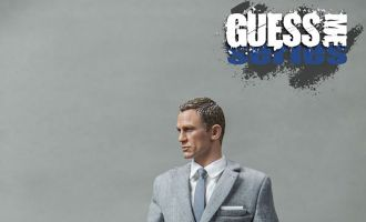 Blackbox Toys BB9002B AGENT 007 GUESS ME SERIES Agent James Grey Suit Agent James Bond