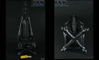 BLACKBOX X BLACKHOLE BXB002A THE 1/6TH SCALE A DARK STAR'S WORLD H.R.G MASTERPIECE 1989 DESIGNER CHAIR BLACK COLOUR VERSION