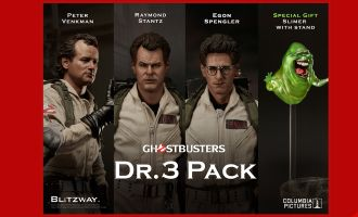 BLITZWAY BW-UMS10105 GHOSTBUSTERS 1984 DR.3 PACK SLIMER WITH STAND