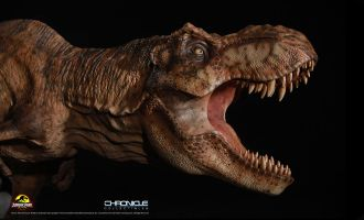 CHRONICLE COLLECTIBLES JURASSIC PARK T-REX BREAKOUT DIORAMA