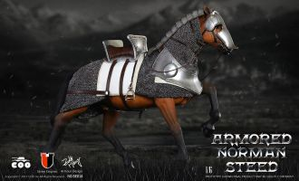 COOMODEL-NO-SE014-SERIES-OF-EMPIRES-ARMORED-NORMAN-STEED
