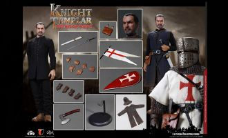COOMODEL SE056 SERIES OF EMPIRES DIE-CAST ALLOY BACHELOR OF KNIGHTS TEMPLAR