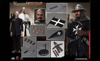 COOMODEL SE057 SERIES OF EMPIRES DIE-CAST ALLOY SERGEANT OF KNIGHTS HOSPITALLER BANNER