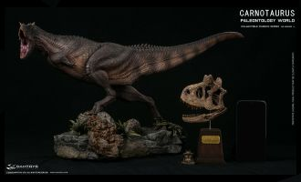 DAMTOYS MUSEUM SERIES CARNOTAURUS SCENES COLLECTIBLE LEVEL STATUES MUS009AEX  EXCLUSIVE EDITION