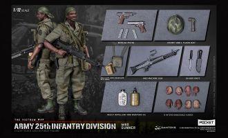 DAMTOYS PES010 POCKET ELITE SERIES ARMY 1/12 25th Infantry Division M60 GUNNER