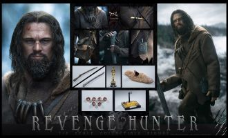 DJ-CUSTOM EX-003 1/6 Revenge Hunter Leonardo DiCaprio Revenant Banner