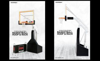 ENTERBAY MOTION MASTERPIECE OR-1004 BASKETBALL HOOP & RACK NBA 1/9 COLLECTION