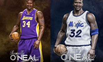 ENTERBAY NBA RM1063 SHAQUILLE ONEAL DUO PACK