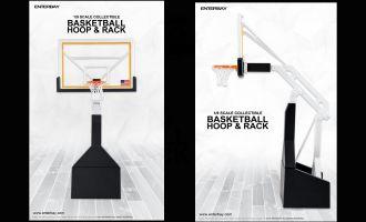 ENTERBAY OR-1009 Basketball Hoop & Rack 1/9 Motion Masterpiece NBA Banner