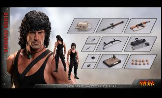 RAMTOYS RT01 1/4 Blood Warrior Rambo Sylvester Stallone Banner