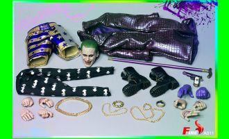 FIRE-TOYS-A011-suicide-squad-JOKER-purple-coat-clown-1/6-set