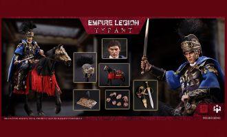HHmodel x HaoYuTOYS HH18041 Commodo 1/6 Imperial Legion-Tyrant Black Gold Man and Horse Set Gladiator Edition Banner