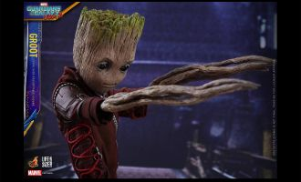 HOT TOYS LMS004 LIFE SIZE GROOT GUARDIANS OF THE GALAXY VOLUME 2 GROOT