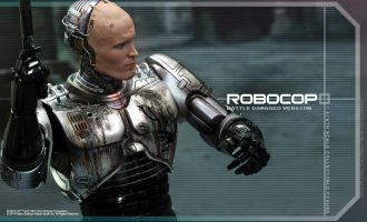 HOT TOYS MMS265 ROBOCOP BATTLE DAMAGED VERSION