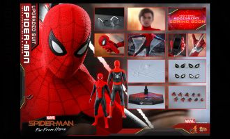 HOT TOYS MMS542 Spider-Man Far From Home Spider-Man Upgraded Suit Banner