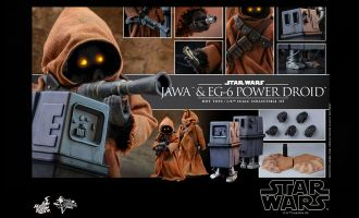 Hot Toys MMS554 Jawa & EG-6 Power Droid Star Wars Episode IV A New Hope Banner