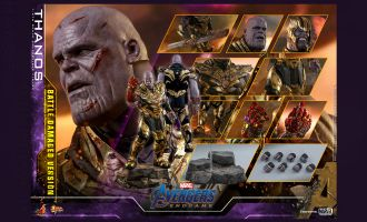Hot Toys MMS564 Avengers Endgame Thanos Battle Damaged Version