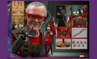 HOT TOYS MMS570 STAN LEE THOR RAGNAROK 2020 TOY FAIR EXCLUSIVE BANNER