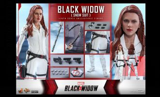 HOT TOYS MMS601 Black Widow Snow Suit Banner