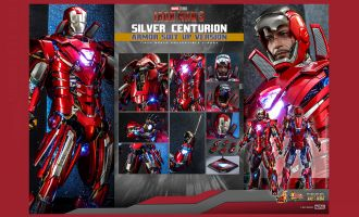 Hot Toys MMS618D43 Silver Centurion Armor Suit Up Version Banner