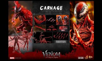 HOT TOYS MMS619 CARNAGE VENOM LET THERE BE CARNAGE BANNER