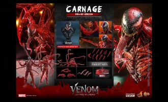 HOT TOYS MMS620 CARNAGE DELUXE VENOM LET THERE BE CARNAGE banner