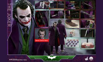 HOT TOYS QS010 THE DARK KNIGHT THE JOKER 1/4 SPECIAL EDITION BONUS HEATH LEDGER