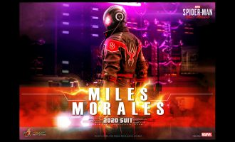 HOT TOYS SPIDER-MAN MILES MORALES 2020 SUIT MARVEL'S SPIDER-MAN BANNER
