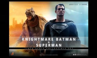 HOT TOYS TMS038 KNIGHTMARE BATMAN AND SUPERMAN ZACK SNYDER'S JUSTICE LEAGUE BANNER