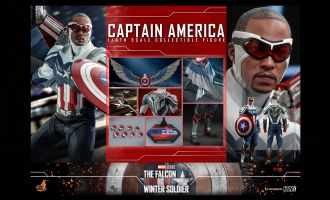 HOT TOYS TMS040 THE FALCON AND THE WINTER SOLDIER CAPTAIN AMERICA BANNER