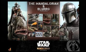 HOT TOYS TMS046 Star Wars The Mandalorian 2-Pack The Mandalorian & Blurrg Banner