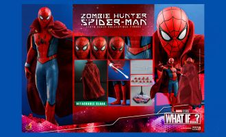 HOT TOYS TMS058 WHAT IF ZOMBIE HUNTER SPIDER-MAN 1/6 ACTION FIGURE BANNER