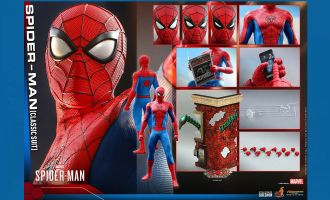 Hot Toys VGM48 Spider-Man Classic Suit Marvel's Spider-Man 1/6 Action figure Banner