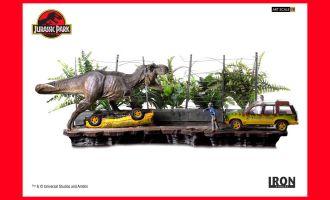 Iron-Studios-Jurassic-Park-Art-Scale-Diorama-1_10-T-Rex-Attack-Set-A-+-Set-B