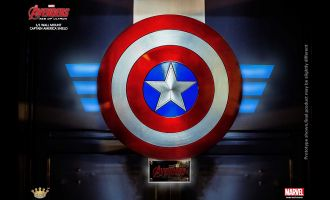 KING ARTS MPS022 AVENGERS AGE OF ULTRON 1/1 WALL MOUNT CAPTAIN AMERICA SHIELD