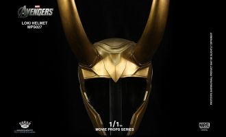 KING ARTS MPS027 MOVIE PROPS SERIES 1/1 THE AVENGERS LOKI HELMET